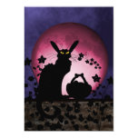 "Chat Noir Easter 5"" X 7"" Invitation Card"