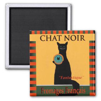 Chat Noir Fromages Français Magnet