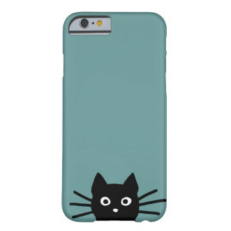 Chat noir sur le bleu (la couleur est coque iPhone 6 barely there