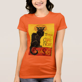 CHAT NOIR VINTAGE T SHIRT, Art Nouveau T-Shirt
