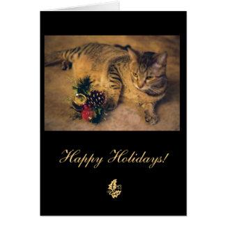 Chat tigré : Joyeux Noël ! Carte