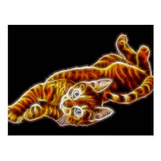 Chat tigré Kitty de la jeunesse Carte Postale