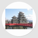 Château au Japon Autocollant Rond