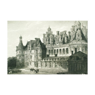 Chateau Chambord Historic Engraving Thomas Allom Canvas Print