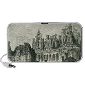 Chateau Chambord Historic Engraving Thomas Allom Mini Speakers