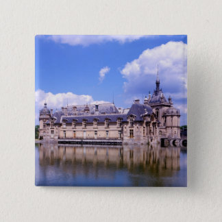Chateau Chantilly, Oise, France 2 Inch Square Button