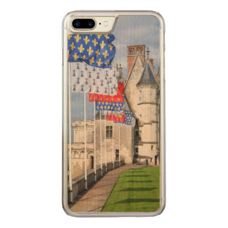 Chateau d'Amboise and flag, France Carved iPhone 7 Plus Case