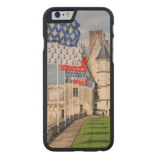 Chateau d'Amboise and flag, France Carved Maple iPhone 6 Case
