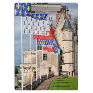 Chateau d'Amboise and flag, France Clipboard
