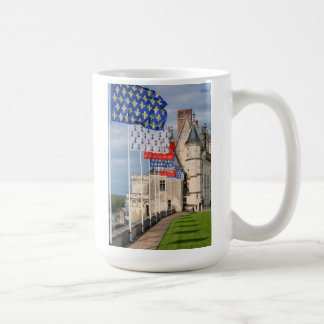 Chateau d'Amboise and flag, France Coffee Mug