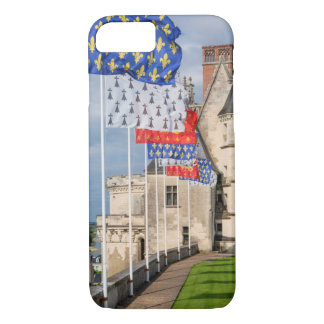 Chateau d'Amboise and flag, France iPhone 7 Case
