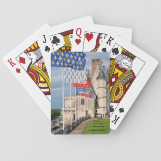 Chateau d'Amboise and flag, France Playing Cards