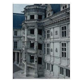 Chateau de Blois, Francis I wing, detail, the spir Postcard