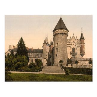 Chateau de Busset, near Vichy, France Postcard