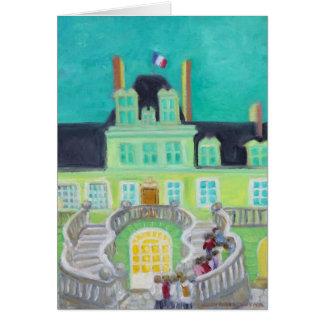 Chateau de Fontainebleau Fantasy Note Card