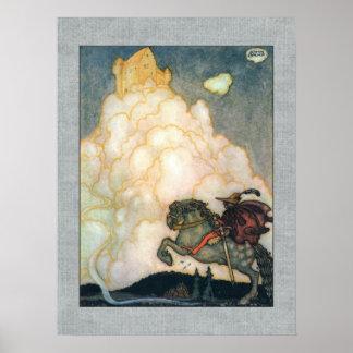 Château de John Bauer des nuages attrayants Posters