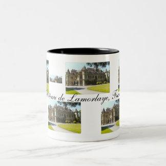 Chateau de Lamorlaye, France Two-Tone Coffee Mug