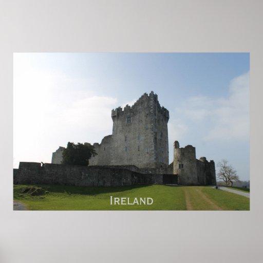 Château de Ross, Killarney, Irlande Posters