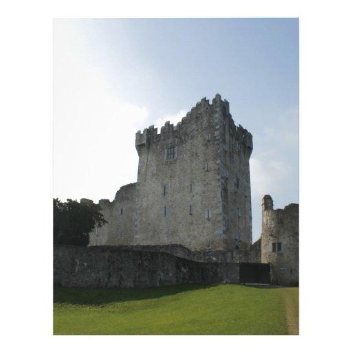 Château de Ross, Killarney, Irlande En-tête De Lettre Customisée