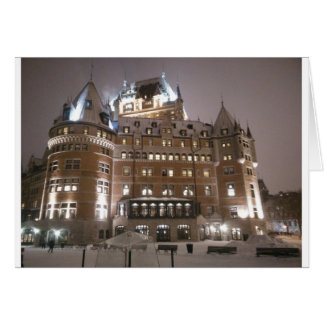 Château Frontenac at Night Card