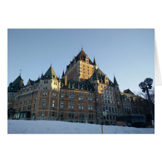 Château Frontenac Sunset Card