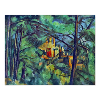 Chateau Noir by Paul Cezanne Poster