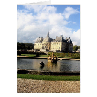 Chateau-Vaux-le-Vicomte, France Greeting Card