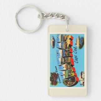 Chatham Cape Cod Massachusetts MA Travel Souvenir Double-Sided Rectangular Acrylic Keychain