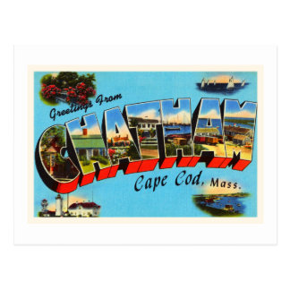 Chatham Cape Cod Massachusetts MA Travel Souvenir Postcard