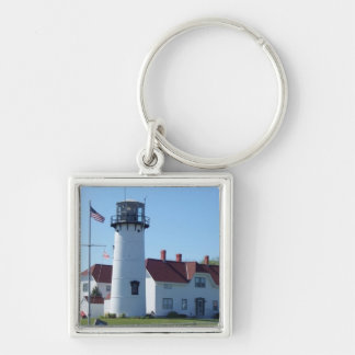 Chatham Light Silver-Colored Square Keychain