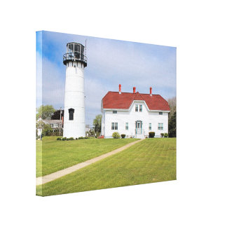 Chatham Lighthouse, Cape Cod, MA Wrapped Canvas