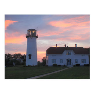 Chatham Lighthouse Sunset Postcard