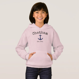 Chatham Massachusetts Pink hoodie for girls.