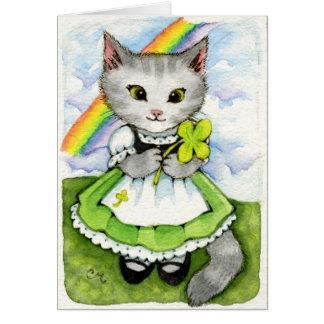 Chaton chanceux - carte du chat de St Patrick