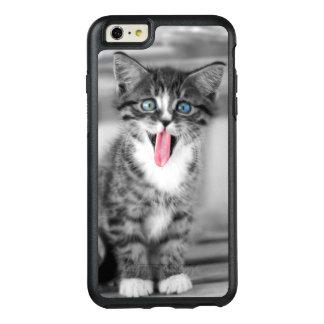 Chaton drôle avec la langue traînant coque OtterBox iPhone 6 et 6s plus