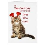 Chaton drôle Valentine Carte De Vœux