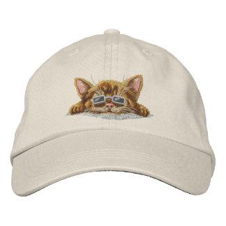 Chaton frais casquette brodée