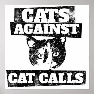Chats contre des appels de chat poster