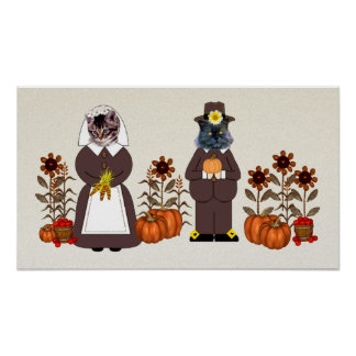 Chats de thanksgiving poster