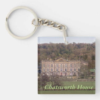 Chatsworth House Double-Sided Square Acrylic Keychain
