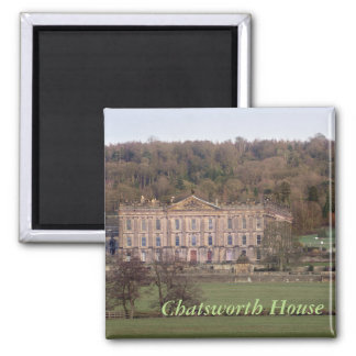 Chatsworth House Square Magnet