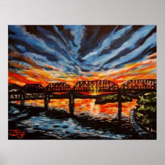 """Chattanooga Sunrise"" Poster/Print Poster"