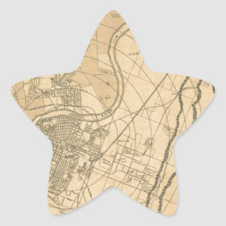 Chattanooga Tennessee 1870 Star Sticker