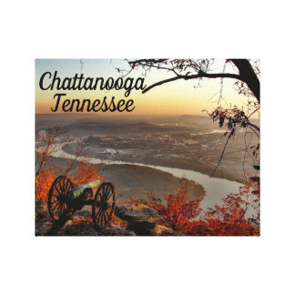 Chattanooga Tennessee from Lookout Mountain Canvas