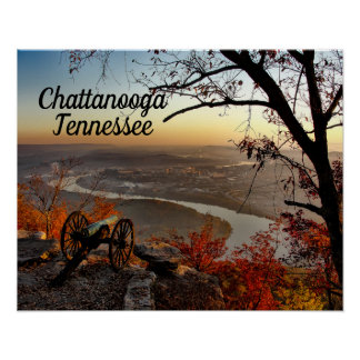 Chattanooga Tennessee from Lookout Mountain Poster