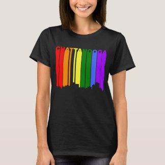 Chattanooga Tennessee Gay Pride Rainbow Skyline T-Shirt