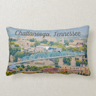 Chattanooga, Tennessee Skyline Lumbar Pillow