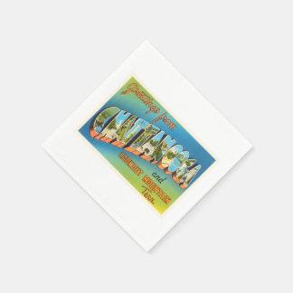 Chattanooga Tennessee TN Vintage Travel Souvenir Disposable Napkins