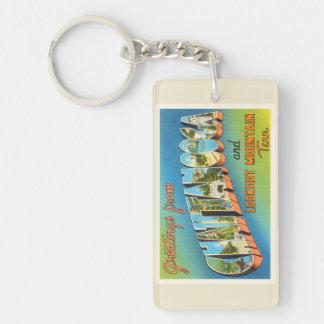Chattanooga Tennessee TN Vintage Travel Souvenir Double-Sided Rectangular Acrylic Keychain