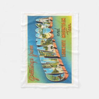 Chattanooga Tennessee TN Vintage Travel Souvenir Fleece Blanket